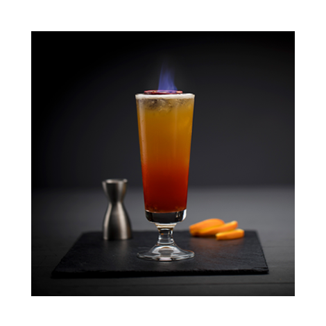 Flaming Zombie Cocktail